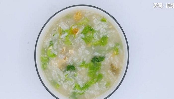 皮蛋生菜粥做法步骤:8