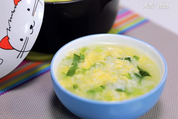 菜心蛋粥做法步骤:7