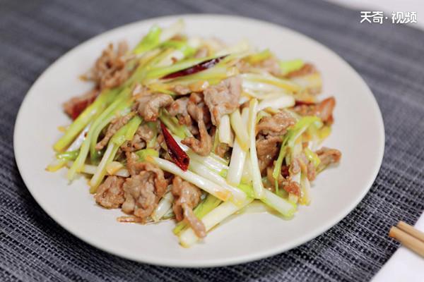 韭黄炒肉做法步骤:8
