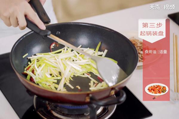 韭黄炒肉做法步骤:7