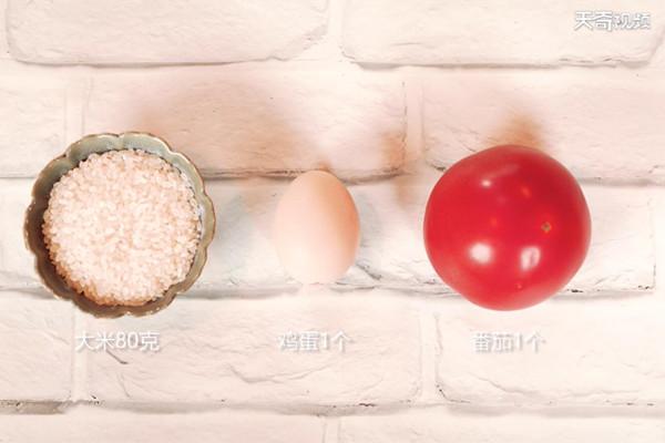 番茄鸡蛋粥做法步骤:1