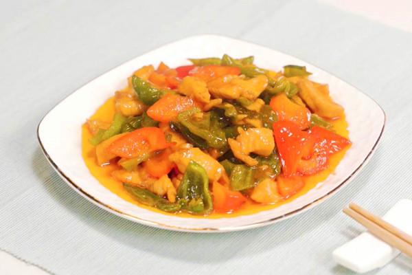 彩椒鸡丁做法步骤:10