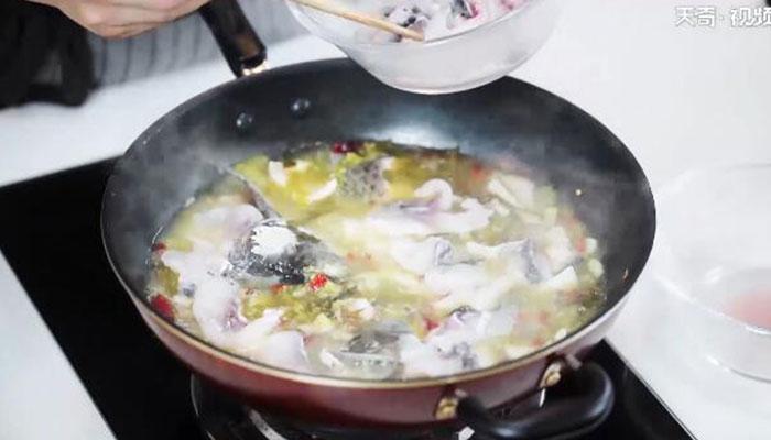 酸菜鱼视频做法步骤:6