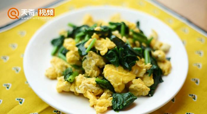 菠菜炒鸡蛋做法步骤:5