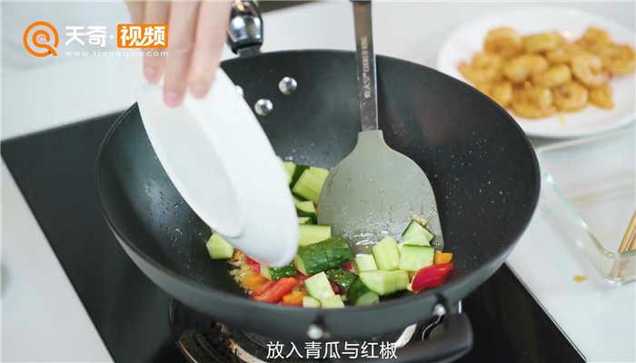 青瓜炒虾仁做法步骤:12