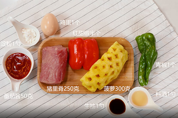 菠萝咕咾肉做法步骤:1