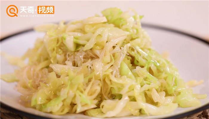 圆白菜炒粉丝做法步骤:8