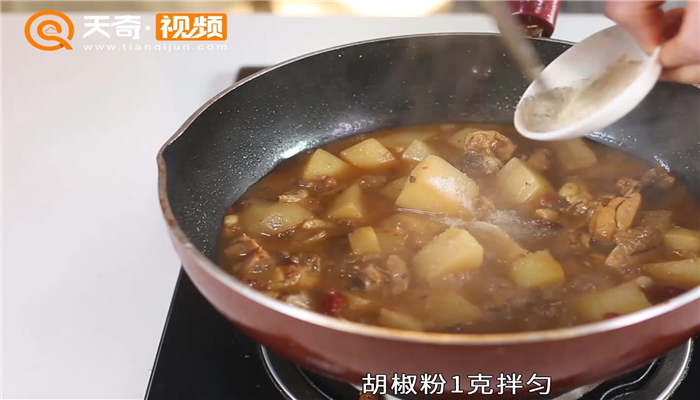土豆炖鸡块做法步骤:12
