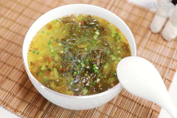 酸菜粉丝汤做法步骤:9