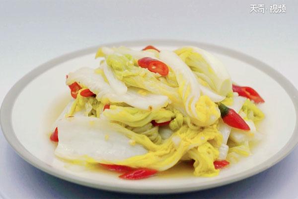 酸辣白菜做法步骤:8