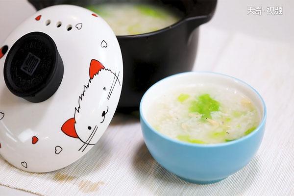 虾米青菜粥做法步骤:6