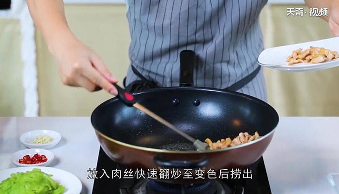 苦瓜炒肉做法步骤:8