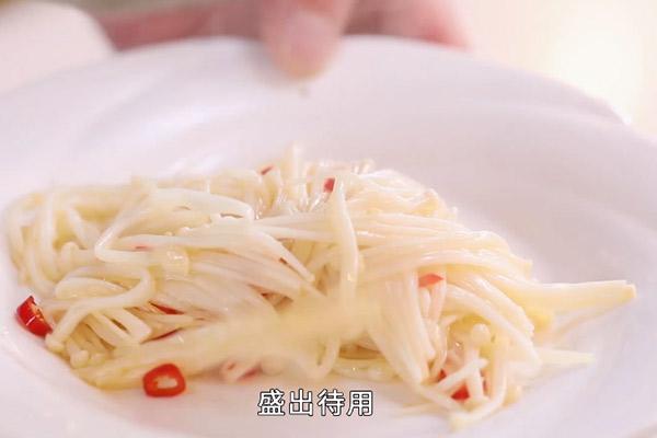 金针菇炒蛋做法步骤:6