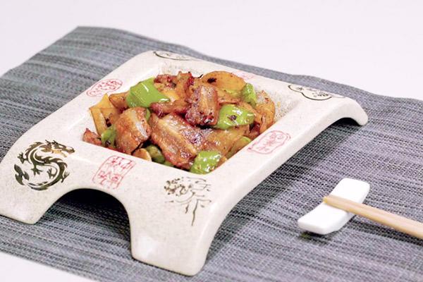 五花肉干煸土豆片做法步骤:11