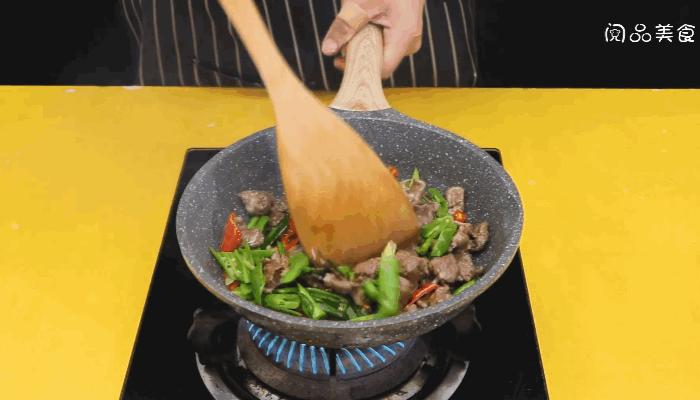 尖椒炒牛肉做法步骤:11
