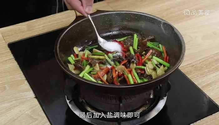 素炒珍珠菇做法步骤:10