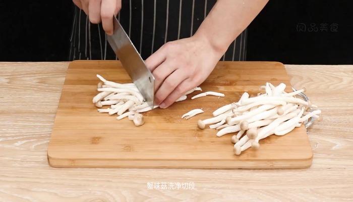 肉末蟹味菇做法步骤:2