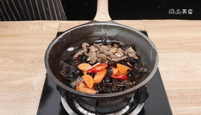 木耳牛肉片做法步骤:13