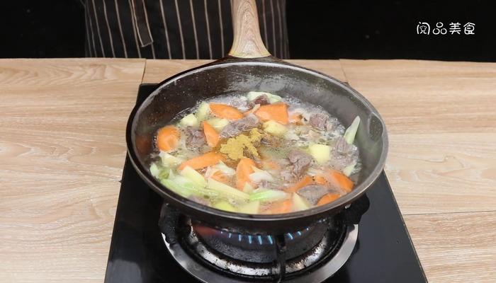 咖喱牛肉饭做法步骤:11