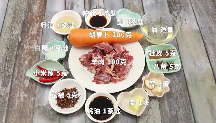 羊肉炖萝卜做法步骤:1