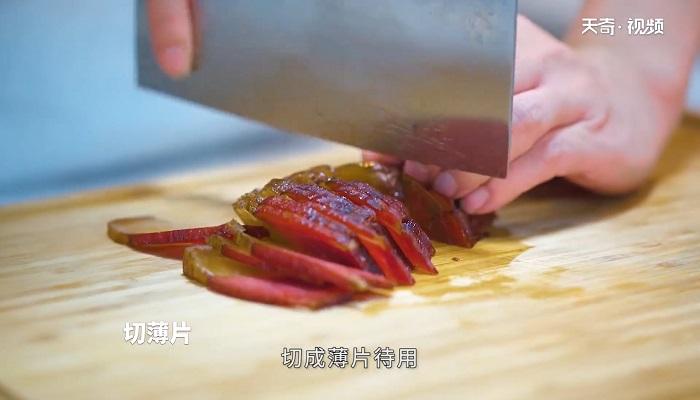 蒜苗腊肉做法步骤:6