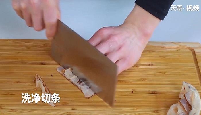 凉拌海蜇皮做法步骤:2
