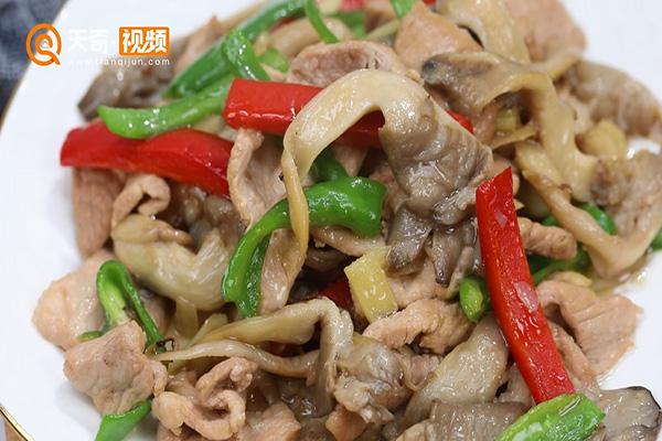 平菇炒肉做法步骤:7
