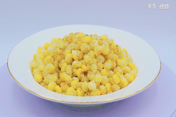 椒盐玉米粒做法步骤:5