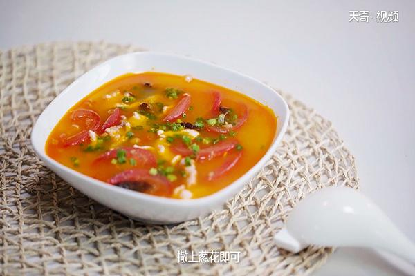 西红柿肉片汤做法步骤:10
