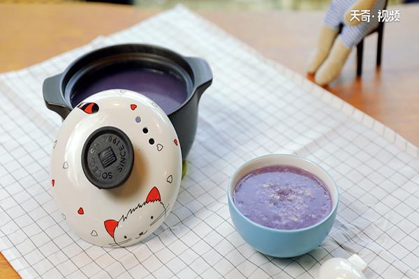 紫薯燕麦粥做法步骤:5