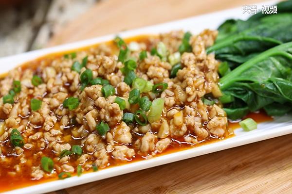 肉酱菠菜做法步骤:8