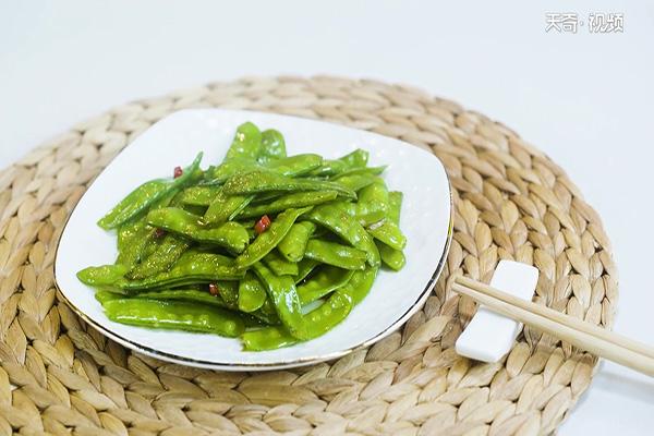 清炒荷兰豆做法步骤:6