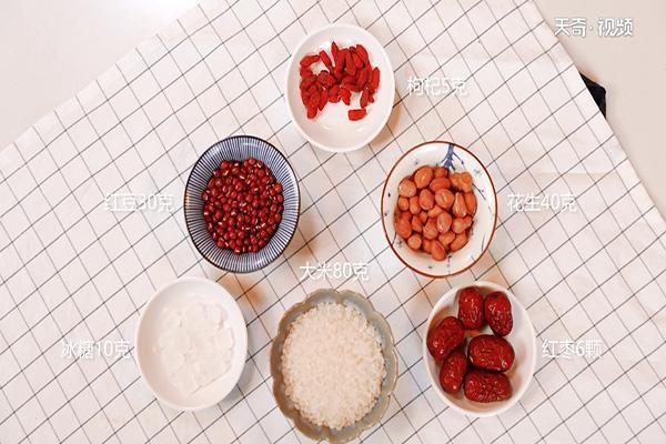 红枣花生粥做法步骤:1