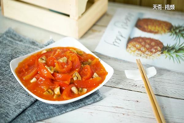 口蘑炒番茄做法步骤:3