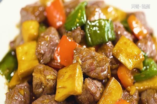 杏鲍菇牛肉粒做法步骤:9