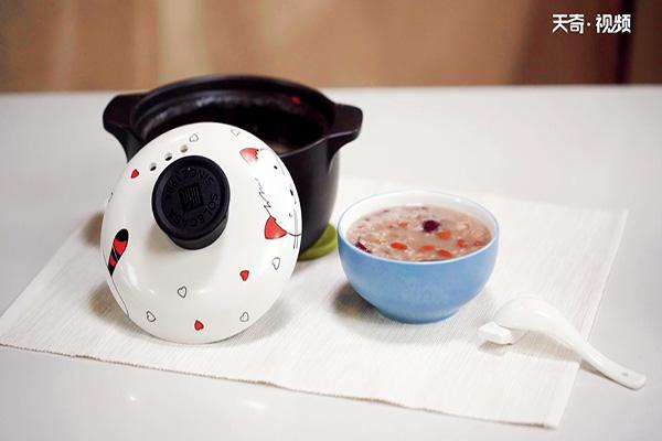 红枣花生粥做法步骤:6